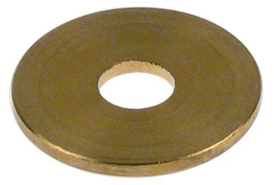ροδέλες ø αναγν. 6,1mm ΕΞ. ø 20mm πάχος 1,6mm ορείχαλκος Ποσ. 1 τεμ. για βάνα μηχανής καφέ