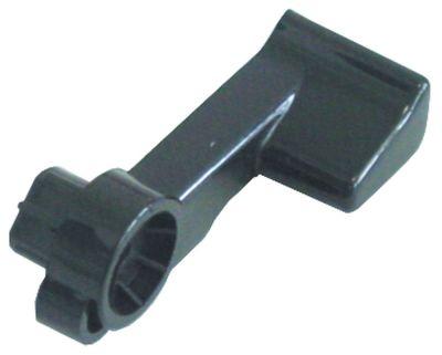 λαβή μοχλού πλαστικό μαύρο