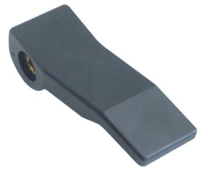 λαβή μοχλού πλαστικό μαύρο άξονας 6,5x6,5 mm