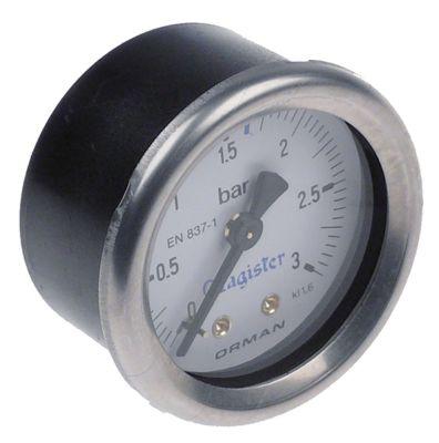 μανόμετρο ø 51,5mm εύρος πίεσης 0-3 bar MAGISTER  σπείρωμα 1/4