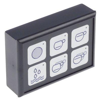πληκτρολόγιο μηχανή καφέ για συσκευή F2006/Kappa/Leva/Stilo  κουμπιά 6
