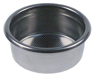 φίλτρο καφέ ø 70mm H 28mm ποσότητα καφέ 21g κύπελλα 3 ø διάταξης στερέωσης 60mm