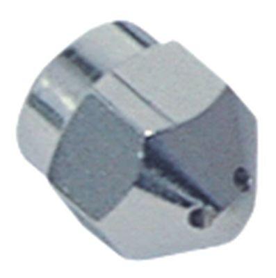 ακροφύσιο ατμού σπείρωμα M10x1  ø 14mm Μ 16mm 4 οπές εσωτερική ø 2mm επιχρωμιωμένος ορείχαλκος