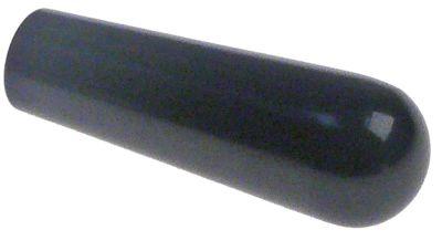 λαβή κωνική σπείρωμα M8  ø 20mm Μ 58,5mm πλαστικό μαύρο
