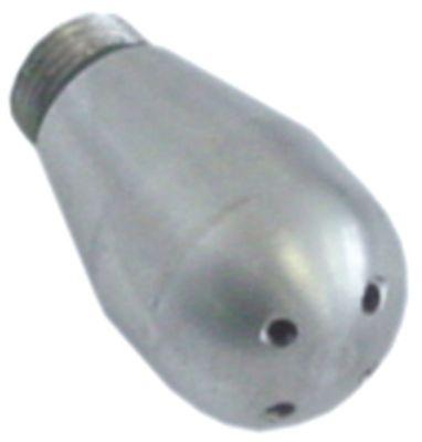 ακροφύσιο ατμού σπείρωμα M9  ø 10/15mm Μ 27mm Μ σπειρώματος 4mm 4 οπές Ανοξείδωτο ατσάλι
