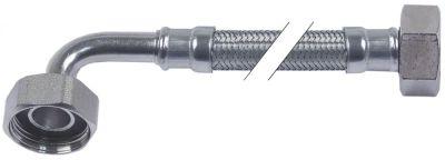 σωλήνας εύκαμπτος πλεξούδα ανοξείδωτου χάλυβα ευθύ-καμπύλο DN10  Μ 1500mm έγκριση DVGW