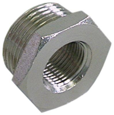 μειωτήρας σπείρωμα επινικελωμένος ορείχαλκος συνολικό μήκος 15,5mm ΜΚ 24
