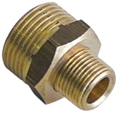 διπλό νίπελ ορείχαλκος σπείρωμα 3/8″ - 3/4″  Ποσ. 1 τεμ. Μ1 12mm Μ2 12mm
