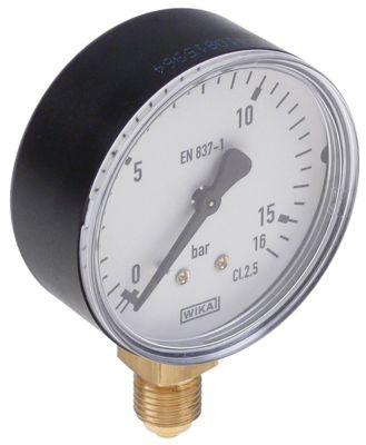 μανόμετρο ø 62mm εύρος πίεσης 0 έως 16bar σύνδεσμος σπείρωμα 1/4