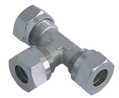 Τ σύνδεσης σπείρωμα 5/8″  ø σωλήνα 15mm ανοξείδωτος χάλυβας