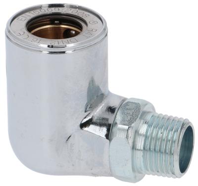 πρίζα σωλήνα αερίου σύνδεσμος 1/2″  Μ1 14,5mm Μ2 50mm με θερμική βαλβίδα ασφαλείας DIN 3383