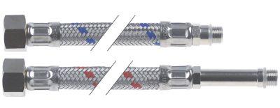 σωλήνας εύκαμπτος σετ Ανοξείδωτο ατσάλι DN8  συνδέσεις 1/2″ - M10x1  Μ 500mm πίεση λειτ. 10bar