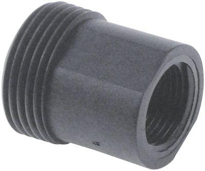 μειωτήρας ΕΣ 3/8″  ΕΣ 3/4″  πλαστικό συνολικό μήκος 30mm ΜΚ 22 με τσιμούχα Ποσ. 1 τεμ.