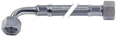 σωλήνας εύκαμπτος πλεξούδα ανοξείδωτου χάλυβα ευθύ-καμπύλο DN10  σύνδεσμος 1: 1/2