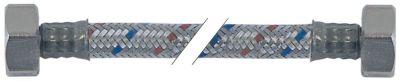 σωλήνας εύκαμπτος πλεξούδα ανοξείδωτου χάλυβα ευθύ-ευθύ DN12  συνδέσεις 3/4