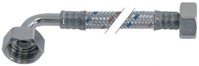 σωλήνας εύκαμπτος πλεξούδα ανοξείδωτου χάλυβα ευθύ-καμπύλο DN12  Μ 2000mm έγκριση DVGW