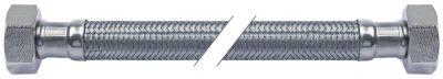 σωλήνας εύκαμπτος πλεξούδα ανοξείδωτου χάλυβα ευθύ-ευθύ DN10  συνδέσεις 1/2