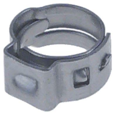 σφικτήρας με ένα αυτάκι ø 6,0-7,0 mm πλάτος 5mm πάχος ταινίας 0.6mm Ποσ. 20 τεμ. CNS W4