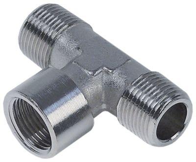 Τ σύνδεσης σπείρωμα 3/8″ εξωτερικό σπείρωμα  - 3/8″ εσωτερικό σπείρωμα - 3/8″ εξωτερικό σπείρωμα
