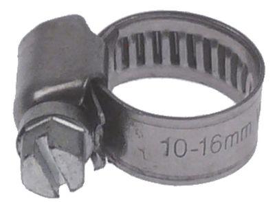 σφικτήρας σωλήνα CNS W4 ø 10-16mm πλάτος 9mm Ποσ. 10 τεμ. DIN 3017