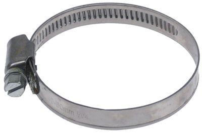 σφικτήρας σωλήνα CNS W4 ø 40-60 mm πλάτος 9mm Ποσ. 5 τεμ. DIN 3017