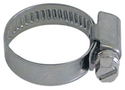 σφικτήρας σωλήνα CNS W4 ø 16-27 mm πλάτος 9mm Ποσ. 10 τεμ. DIN 3017