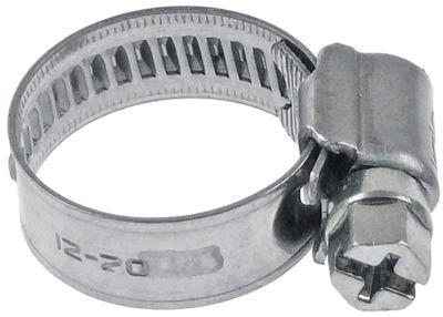 σφικτήρας σωλήνα CNS W4 ø 12-20mm πλάτος 9mm Ποσ. 10 τεμ. DIN 3017