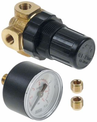 pressure reduction valve with manometer