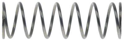 ελατήριο πίεσης ø 19.3mm Μ 60mm ø διατομής σύρματος 1.6mm περιελίξεις 8
