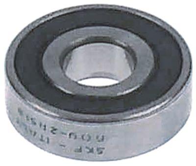 ρουλεμάν με βαθύ αυλάκι τύπος 609-2RS  ø άξονα 9mm ΕΞ. ø 24mm W 7mm με δίσκους στεγανοποίησης