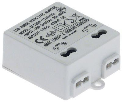 τροφοδοτικό κύρια τάση 100-240VAC  δευτερεύον 12VDC  5VA δευτερεύον 0.4A H 20mm