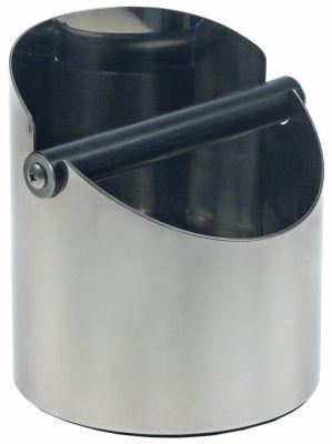δοχείο υπολειμμάτων καφέ H 158mm Ανοξείδωτο ατσάλι ø 140mm