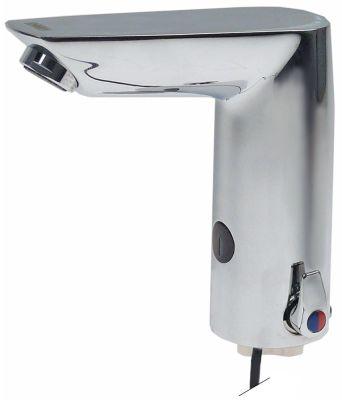 βρύση με αισθητήρα χαμηλή πίεση 3x1,5V μήκος στομίου 106/144 mm ύψος στομίου 118/140 mm