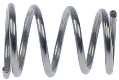 ελατήριο πίεσης ø 12,5/14,5 mm Μ 21mm ø διατομής σύρματος 1,4mm περιελίξεις 5