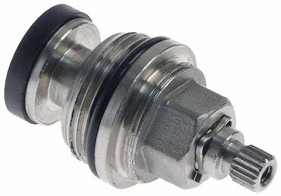λαβή βρύσης INOX  σπείρωμα 3/4″  κρύο/ζεστό νερό