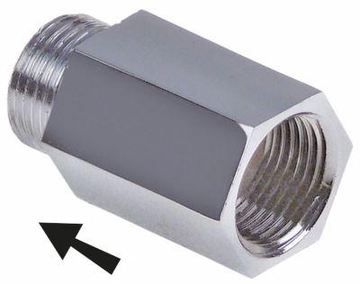αντεπίστροφο σπείρωμα 3/8″  H 39mm ανοξείδωτος χάλυβας