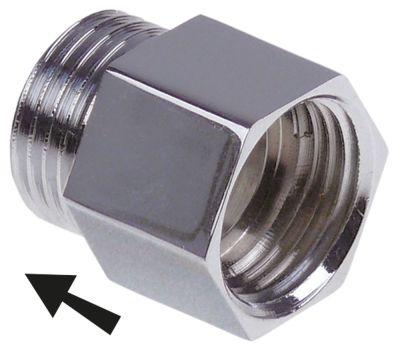 αντεπίστροφο σπείρωμα 1/2″  H 27mm ανοξείδωτος χάλυβας