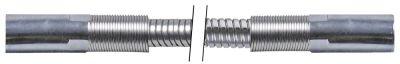 σωλήνας ψεκασμού συνδέσεις 1/2″  Μ 1250mm Ανοξείδωτο ατσάλι πίεση λειτ. 10bar