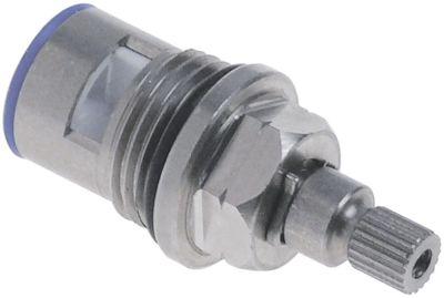 βαλβίδα βρύσης κεραμική inox  σπείρωμα 1/2″  περιστροφή 90° κρύο νερό