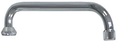στόμιο U  ø σωλήνα 18mm προεκβολή 200mm ύψος στομίου 5mm H 70mm