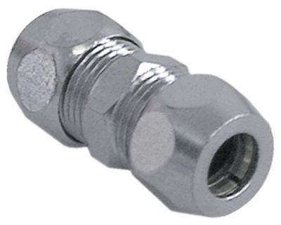σύνδεσμος σωλήνα βιδωτός σπείρωμα 3/8″  ø σωλήνα 8mm επιχρωμιωμένος ορείχαλκος