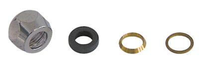 σύνδεσμος πίεσης σπείρωμα 3/8″  ø σωλήνα 12mm επιχρωμιωμένος ορείχαλκος