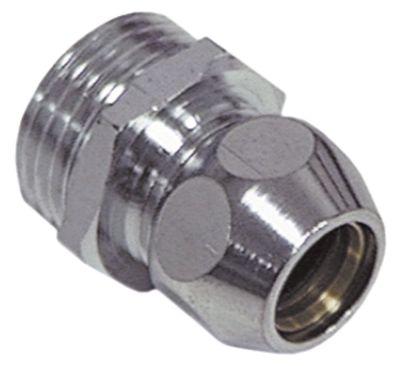 νίπελ βιδωτό σπείρωμα 1/2″  ø σωλήνα 10mm επιχρωμιωμένος ορείχαλκος