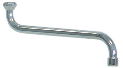 στόμιο S  ø σωλήνα 18mm προεκβολή 300mm ύψος στομίου 115mm