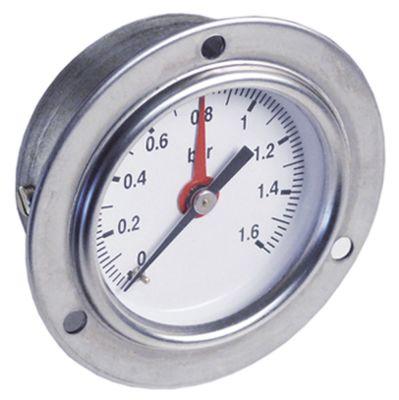 μανόμετρο ø 60mm εύρος πίεσης 0 έως 1,6bar σπείρωμα 1/4″  σήμανση ρυθμιζόμενο