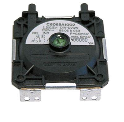 πρεσοστάτης εύρος πίεσης ρυθμιζόμενο 0,44-0,8mbar τεχνολογία αερίου σύνδεσμος 6mm