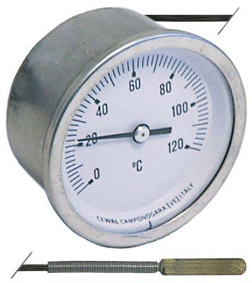 θερμόμετρο ø διάταξης στερέωσης 60mm Μέγ. Θ 120°C 0 έως +120°C ø αισθητηρίου 6,5mm