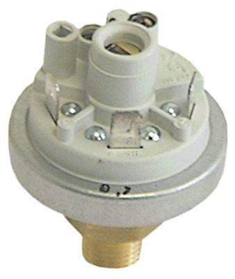 πρεσοστάτης ø 45mm σύνδεση πίεσης, κατακόρυφη έλεγχος ατμού εύρος πίεσης 0,8/0,65 bar