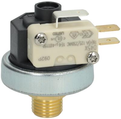 πρεσοστάτης ø 38mm εύρος πίεσης 1-2,5 bar σύνδεση πίεσης, κατακόρυφη 16A 250V