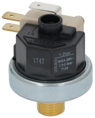 πρεσοστάτης ø 38mm εύρος πίεσης 1-2,5 bar σύνδεση πίεσης, κατακόρυφη